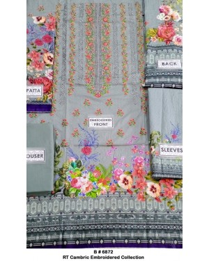 RT Cambric Embroidered Collection Original D-018