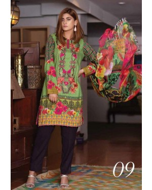 Fanoos Aiman Digital Embroidered D-09