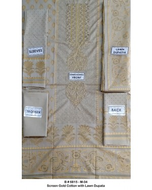 Screen Gold Embroidered Cotton D-01