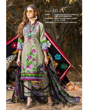 MTF Haute Embroidered Khaddar'19 D-01