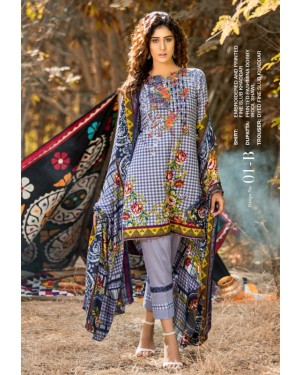 MTF Haute Embroidered Khaddar'19 D-02