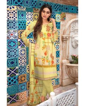 Digital Sequvence Chickenkari with Pashmina Shawl D-03