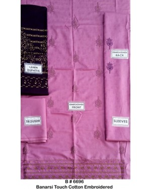 Banarsi Touch Cotton Embroidered D-04