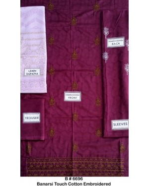 Banarsi Touch Cotton Embroidered D-02