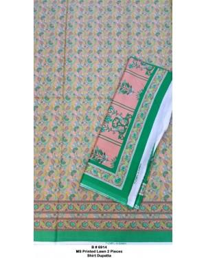 MS Printed Cotton 2 Pieces Shirt Dupatta D-09