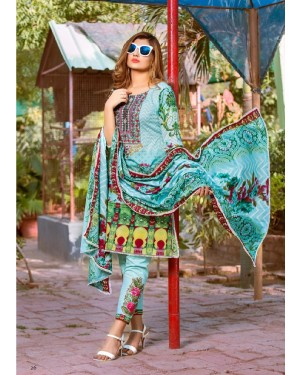 Ruqayyah's High Shine Embroidered Lawn D-03B
