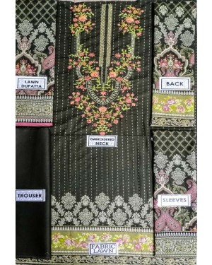 Binsaeed Embroidered Lawn Collection 2020