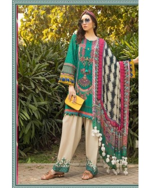 Premiun Embroidered Lawn Collection D-03