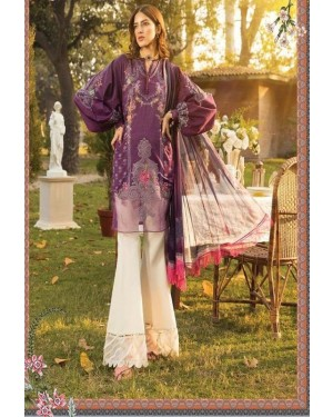 Premiun Embroidered Lawn Collection D-04