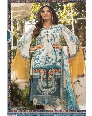 Premiun Embroidered Lawn Collection D-01