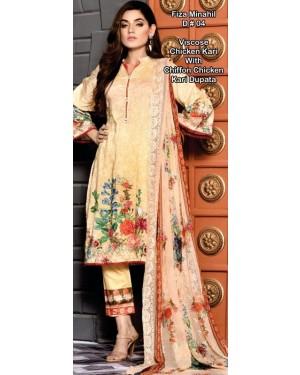 Fiza Minahil Chicken Kari Embroidered collection