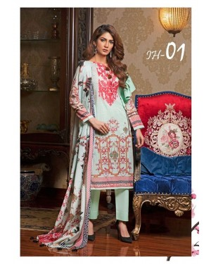 Ilyana Hassan Embroidered Lawn Original D-IH-01
